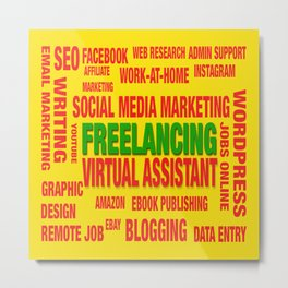 Freelancing Social Media Souvenir Metal Print