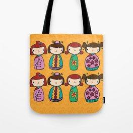 kokeshi dollies Tote Bag