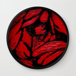 Dark roses in the entrails Wall Clock