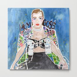 Mom Boss Metal Print