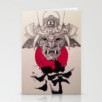 murakami Stationery Cards featuring Samurai by Ayesha Jehan