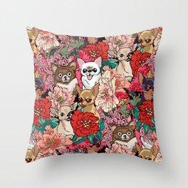 Because Chihuahua Throw Pillow