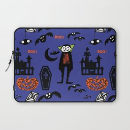 Cute Dracula and friends blue #halloween Laptop Sleeve