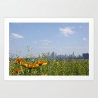 Chicago/Flowers/Skyline/City Art Print
