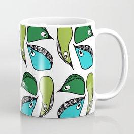 Green Dive-Plongeon vers- birds 2 Coffee Mug