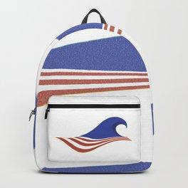 BLUE WAVE - US Flag Election Day Backpack