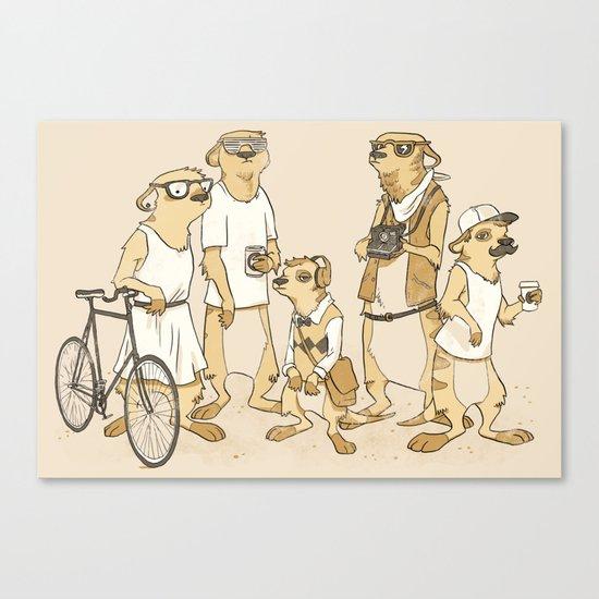 Hipster Meerkats Canvas Print