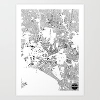 melbourne Art Prints featuring MELBOURNE by Maps Factory