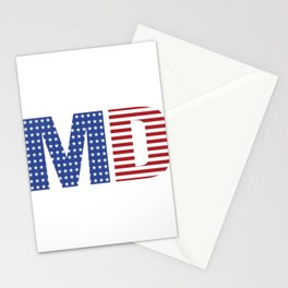Maryland 4th Of July Stationery Cards