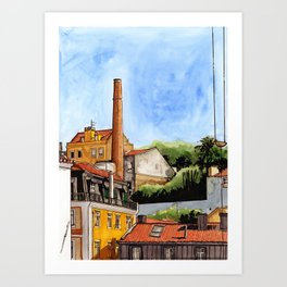 Alfama Buildings Art Print