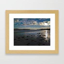 crescent beach reflections Framed Art Print