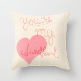Sweetheart // overlay Throw Pillow