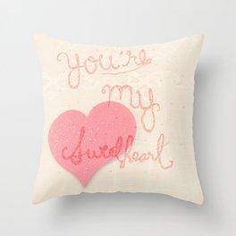 Sweetheart // overlay Throw Pillow