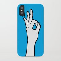 kim sy ok iPhone & iPod Cases featuring OK by MCKIBILLO