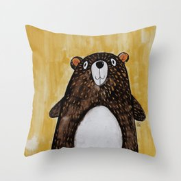 Mr. Bear Throw Pillow