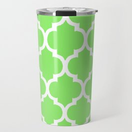 MOROCCAN LIME GREEN AND WHITE PATTERN Travel Mug