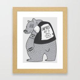 Empires Bear Print - Original Text Framed Art Print