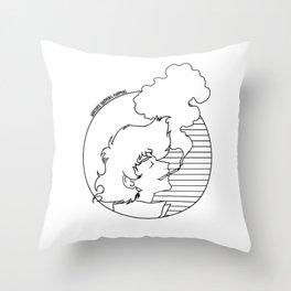 Whatever Happens, Happens (circle b&w) Throw Pillow