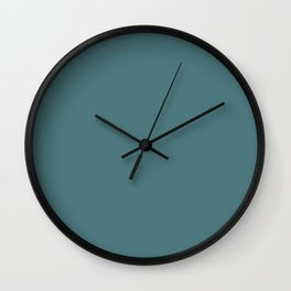 Solid Dark Beetle Green Color Wall Clock