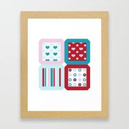 Charms Quilt Framed Art Print