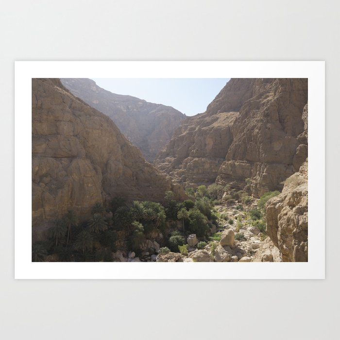 Wadi Shab, Oman Art Print