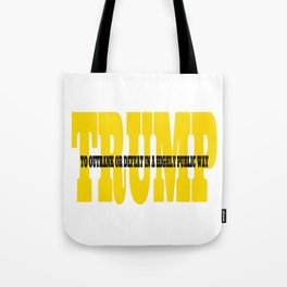 Trump Gold Definition Tote Bag