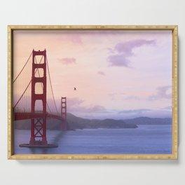 Sunrise San Francisco Bridge (Color) Serving Tray