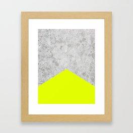 Concrete Arrow - Neon Yellow #521 Framed Art Print
