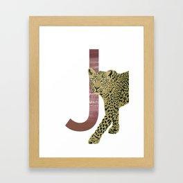 J - Jaguar Framed Art Print