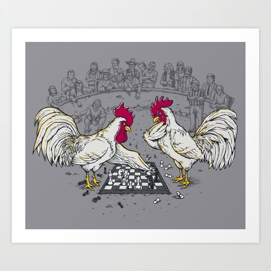 Cockfight Art Print