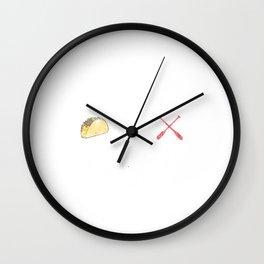 Kayaking and Tacos Funny Taco Distress Wall Clock