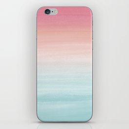 Touching Watercolor Abstract Beach Dream #1 #painting #decor #art #society6 iPhone Skin