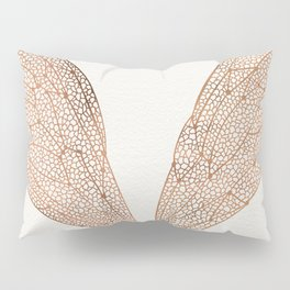 Cicada Wings in Rose Gold Pillow Sham