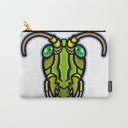 Grasshopper Head Mascot Carry-All Pouch