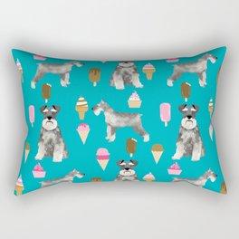 schnauzer ice cream dog breed pet pattern dog mom Rectangular Pillow