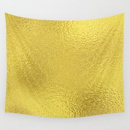 Simply Metallic in Yellow Gold Wall Tapestry