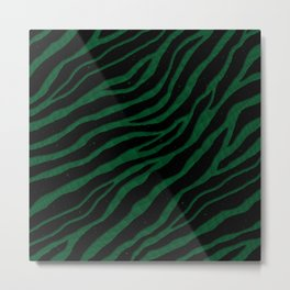 Ripped SpaceTime Stripes - Forest Metal Print