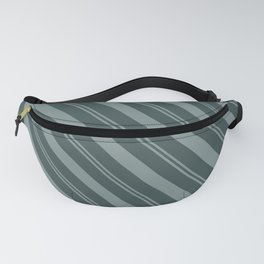 Scarborough Green PPG1145-5 Thick and Thin Angled Stripes on Night Watch PPG1145-7 Fanny Pack