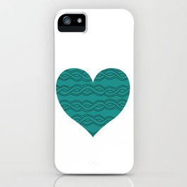 Hearts Woven 07 iPhone Case