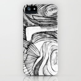Onions (black and white) iPhone Case