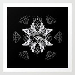 Dark Light Series Art Print