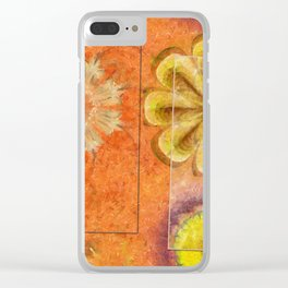 Dorsel Trance Flower  ID:16165-115815-42891 Clear iPhone Case