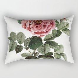 Dusty English Red Rose Rectangular Pillow