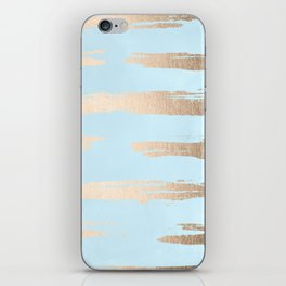 Abstract Paint Stripes Gold Tropical Ocean Sea Turquoise iPhone Skin
