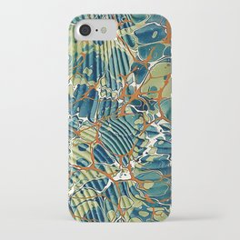 Old Marbled Paper 05 iPhone Case