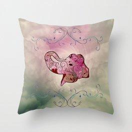 Decorative elegant elephant Throw Pillow