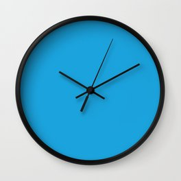 Oktoberfest Bavarian Blue Solid Color Wall Clock