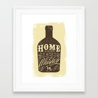 whiskey Framed Art Prints featuring Whiskey by irosebot