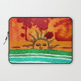 Sunset in planet Bizarro Laptop Sleeve
