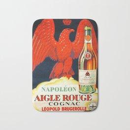 1910 Vintage Napoleon Aigle Rouge Cognac Poster by Leopold Brugerolle Bath Mat